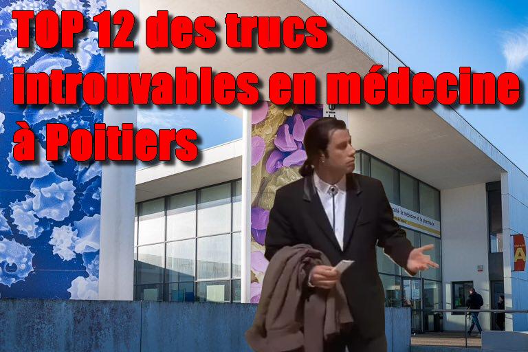 Top 12 des choses introuvables en médecine à Poitiers